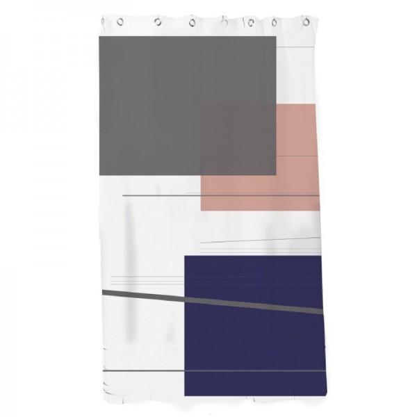 Κουρτίνα Μπάνιου Υφασμάτινη Abstract Art Ecocasa 02-4088