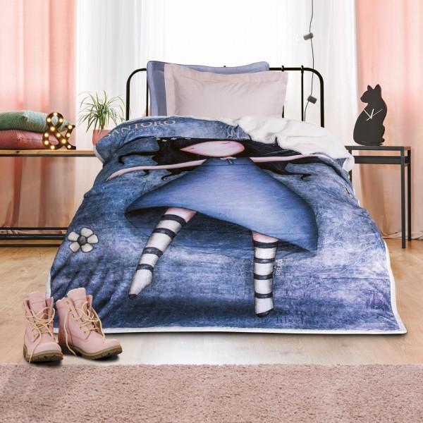 Κουβέρτα Fleece Μονή Das Home Santoro 5016