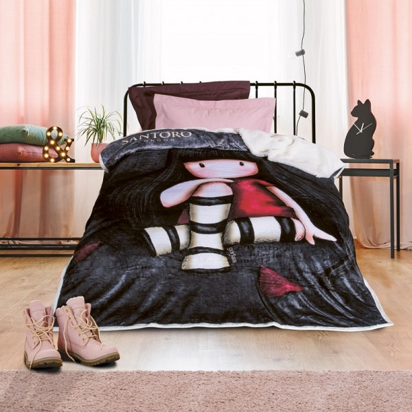 Κουβέρτα Fleece Μονή Das Home Santoro 5015