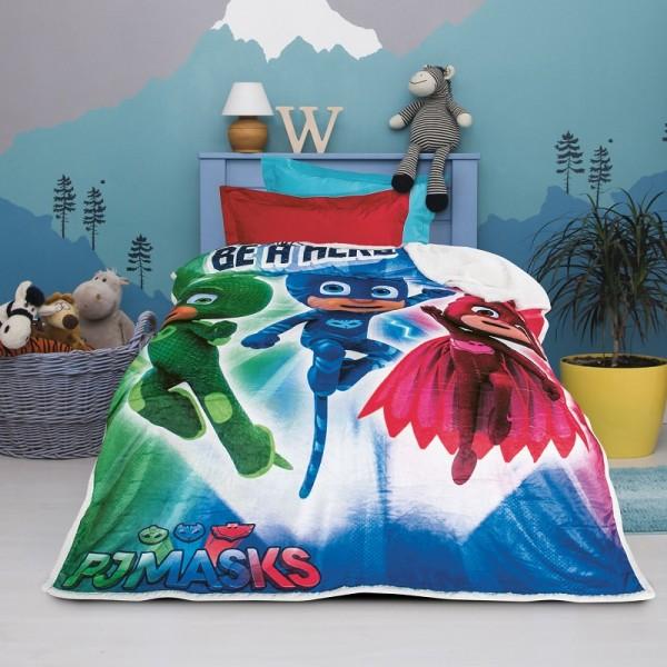 Κουβέρτα Fleece Μονή Das Home Pj Masks 5017