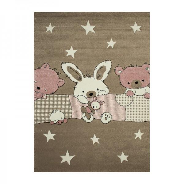 Παιδικό Χαλί 133X190 Koulis 1372A Beige - Pink