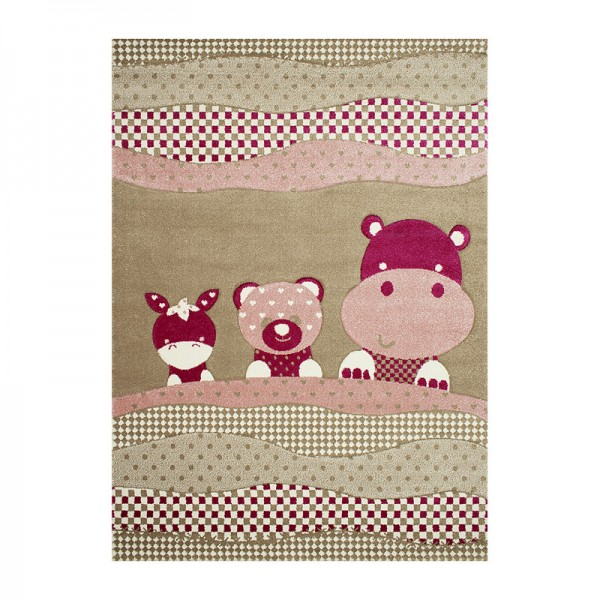 Παιδικό Χαλί 165X230 Koulis 1969A Beige - Pink