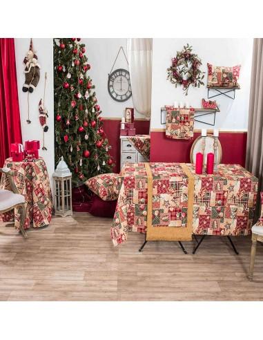 Χριστουγεννιάτικο Τραπεζομάντηλο (140Χ220) Teoran Tinsel