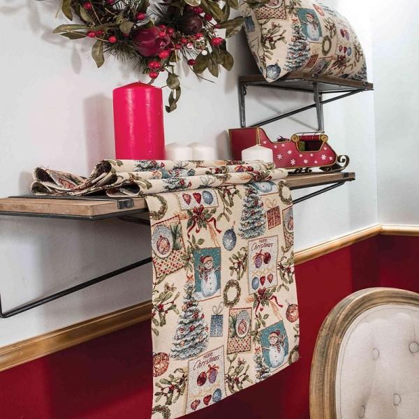 Χριστουγεννιάτικη Τραβέρσα 40Χ160 Teoran Jolly
