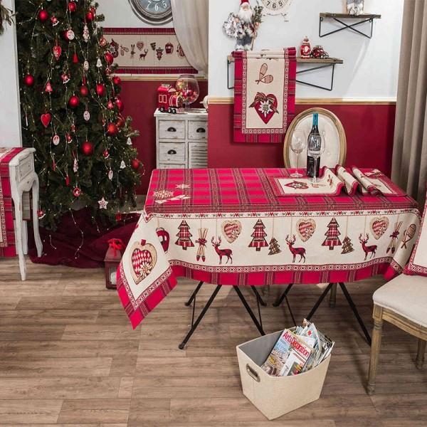 Χριστουγεννιάτικο Καρέ & Τραβέρσα (σετ) Teoran Trivor