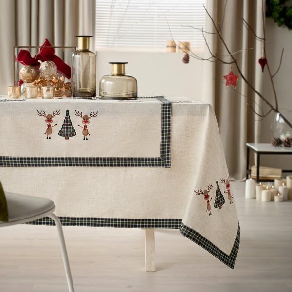Χριστουγεννιάτικο Τραπεζομάντηλο (135Χ180) Gofis Home 273