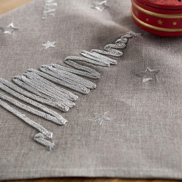 Χριστουγεννιάτικο Τραπεζοκαρέ 135Χ135 Gofis Home 231/15