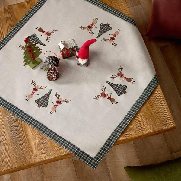 Χριστουγεννιάτικο Καρέ 85Χ85 Gofis Home 273