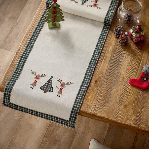 Χριστουγεννιάτικη Τραβέρσα 40Χ160 Gofis Home 273