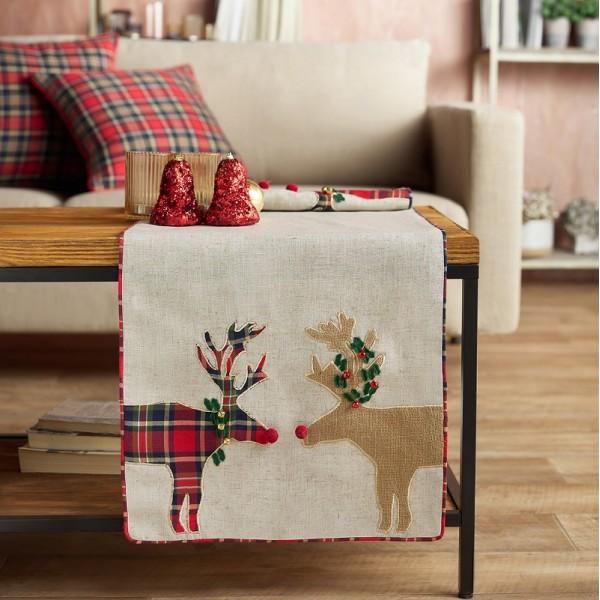Χριστουγεννιάτικη Τραβέρσα 40Χ160 Gofis Home 644