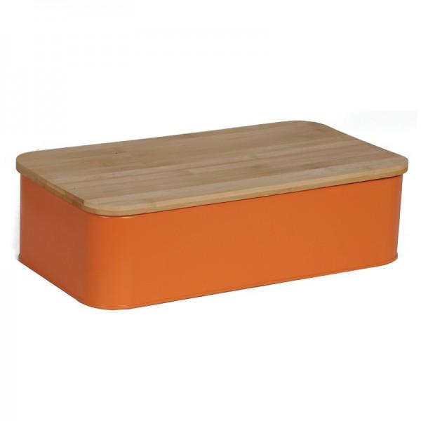 Ψωμιέρα Μεταλλική Με Καπάκι Ξύλο Κοπής εstia 01-3630