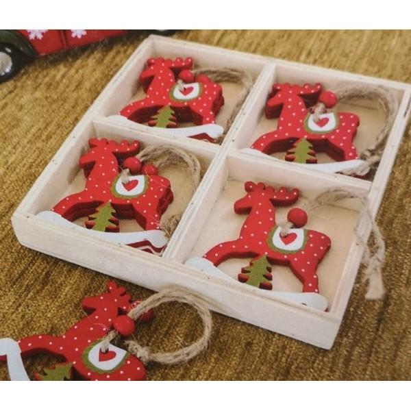 Χριστουγεννιάτικα Στολίδια 8 Τεμαχίων Teoran Deer