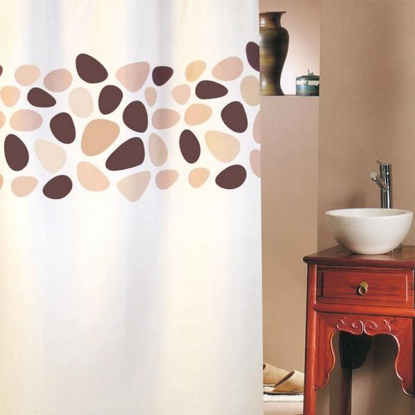 Κουρτίνα Μπάνιου (180Χ180) San Lorentzo Pebbles Brown