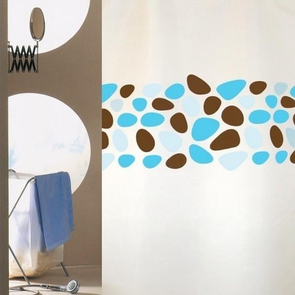 Κουρτίνα Μπάνιου (240Χ180) San Lorentzo Pebbles Turquoise