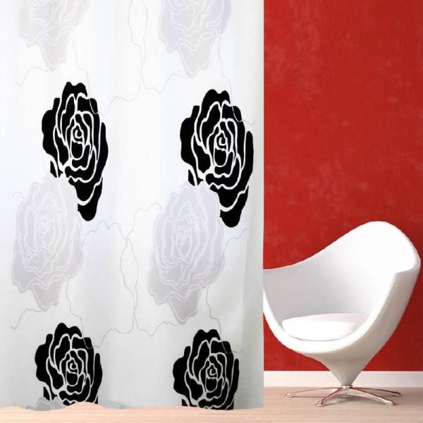 Κουρτίνα Μπάνιου (180Χ180) San Lorentzo Black Rose