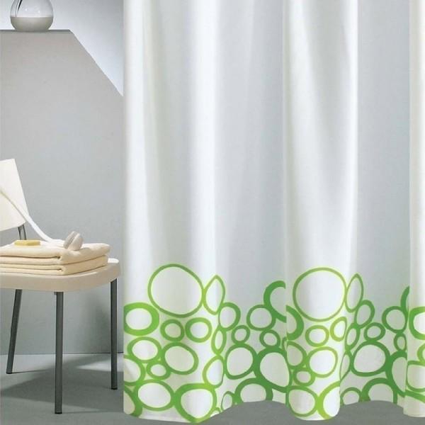 Κουρτίνα Μπάνιου Υφασμάτινη (180Χ180) San Lorentzo Bubbles Green