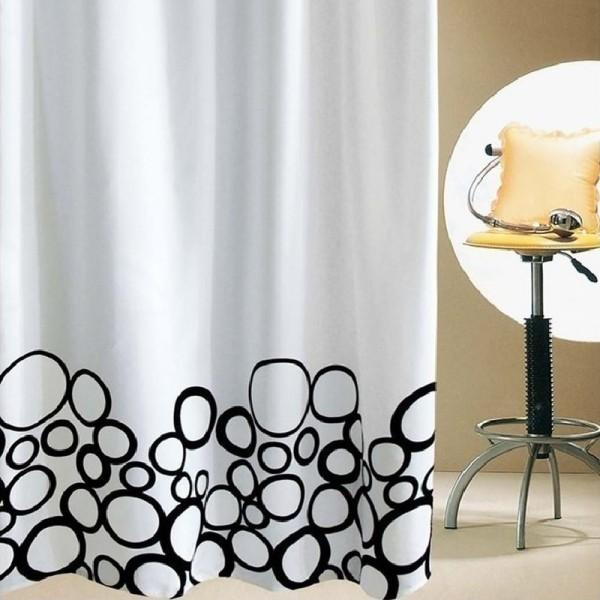 Κουρτίνα Μπάνιου Υφασμάτινη (180Χ200) San Lorentzo Bubbles Black
