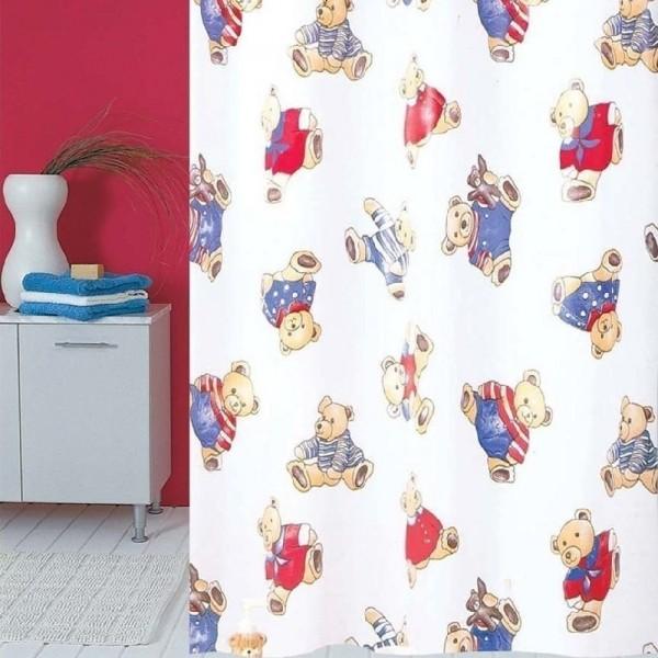 Κουρτίνα Μπάνιου Πλαστική (180X180) San Lorentzo Bear