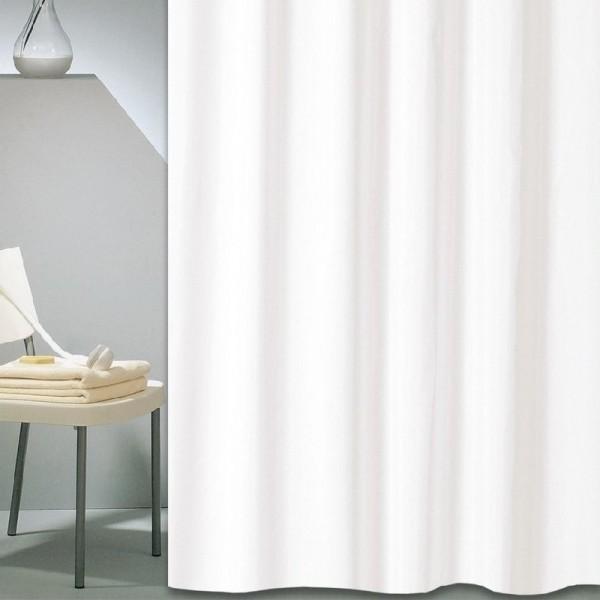 Κουρτίνα Μπάνιου Υφασμάτινη (180Χ180) San Lorentzo Solid White