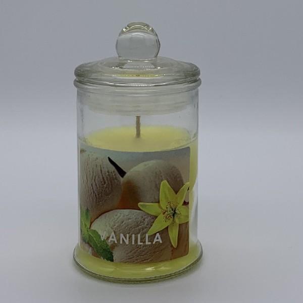 Κερί Αρωματικό Γυάλινο Με Καπάκι Ε-0594 Vanilla
