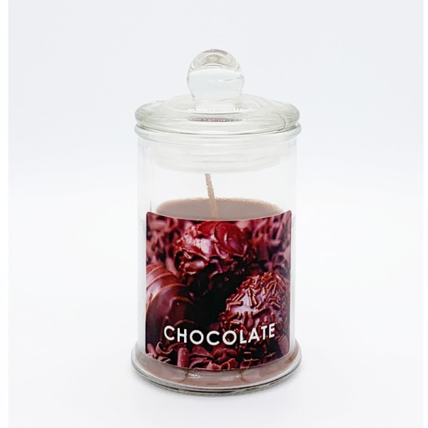 Κερί Αρωματικό Γυάλινο Με Καπάκι Ε-0594 Chocolate