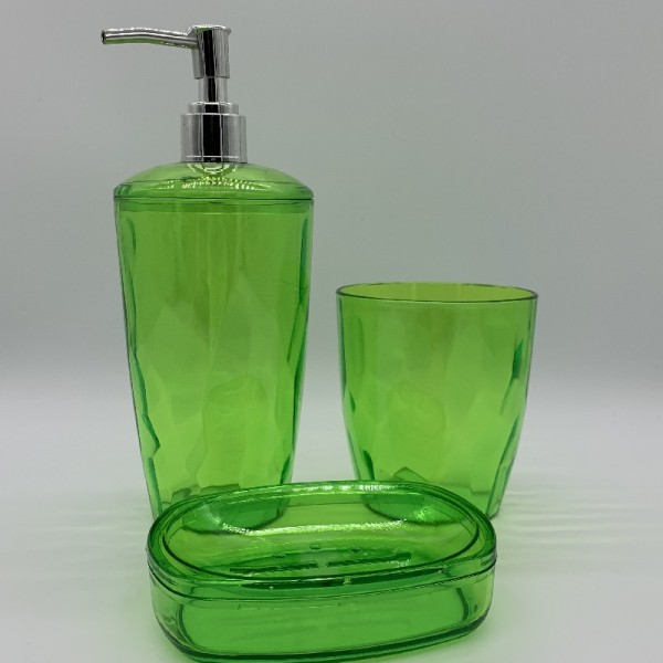 Σετ Μπάνιου 3 Τεμαχίων Πλαστικό E-0796 Πράσινο