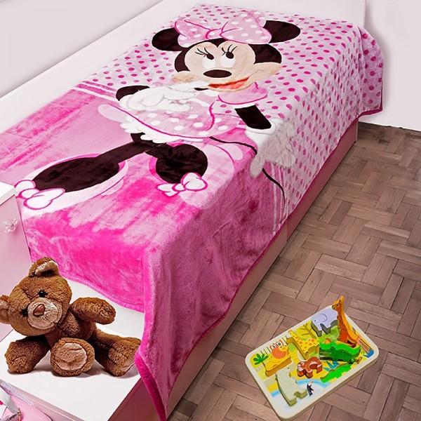 Κουβέρτα Βελουτέ Μονή Dim Collection Disney Minnie 551