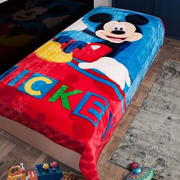 Κουβέρτα Βελουτέ Μονή Dim Collection Disney Mickey 561