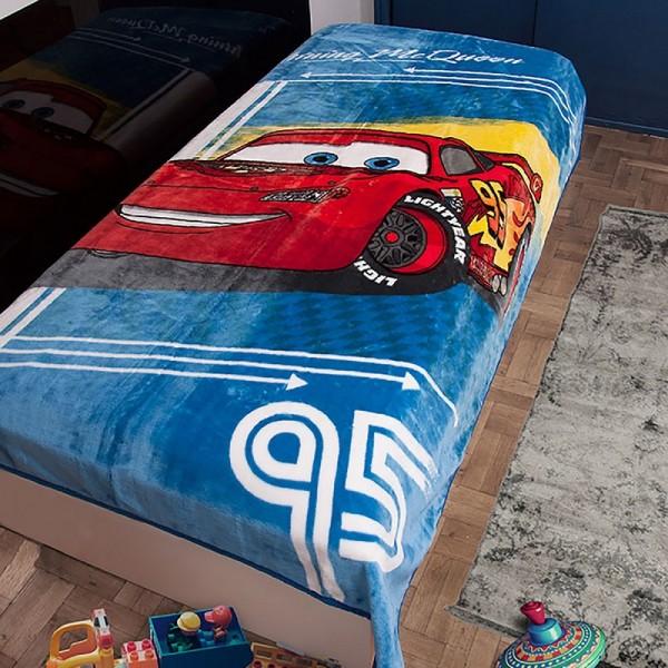 Κουβέρτα Βελουτέ Μονή Dim Collection Disney Cars 095