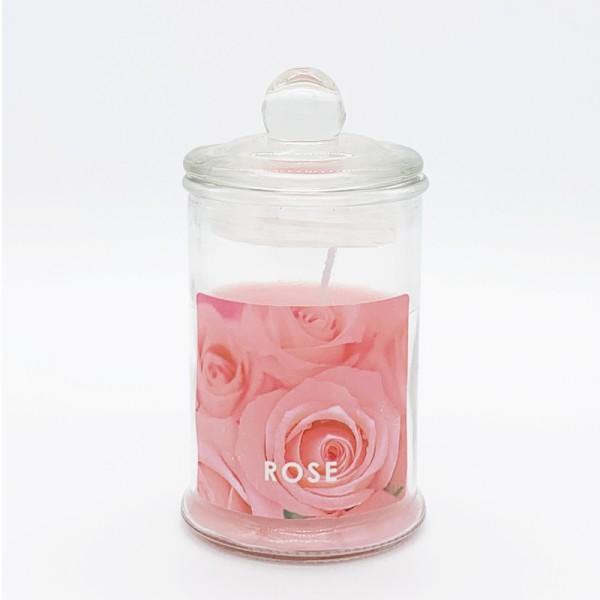 Κερί Αρωματικό Γυάλινο Με Καπάκι Ε-0594 Rose