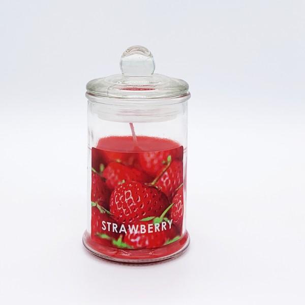 Κερί Αρωματικό Γυάλινο Με Καπάκι Ε-0594 Strawberry