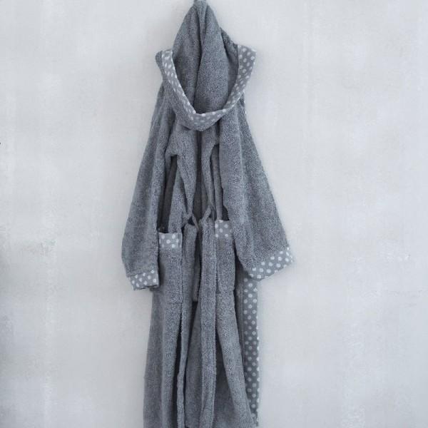 Μπουρνούζι Palamaiki Dots Grey